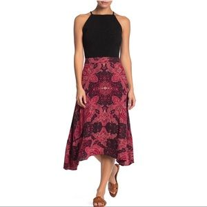 Free People At the Shore Skirt Red
